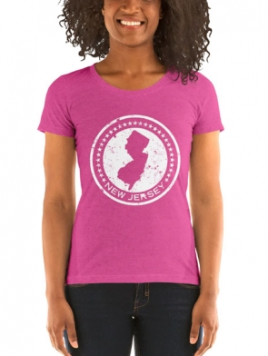 New Jersey Circle Design Ladies fit