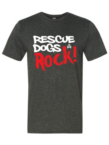 Rescue Dogs Rock! T-Shirt Design