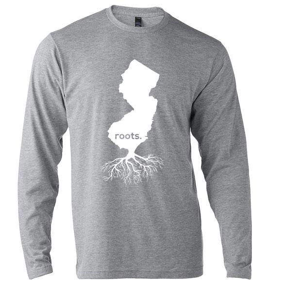 Jersey-Roots Design Unisex-Grey. LS