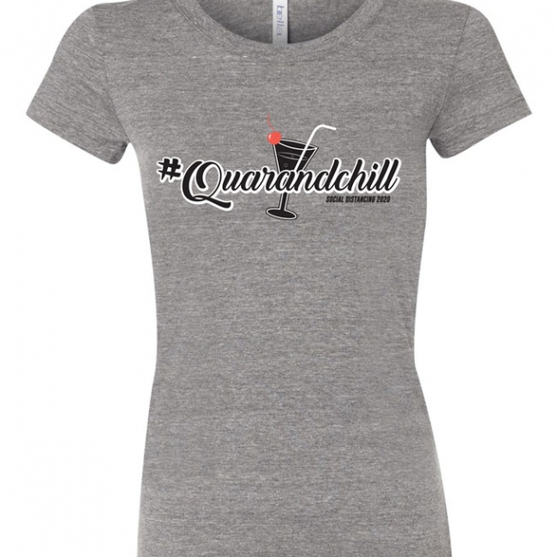 #Quarandchill Ladies T-Shirt Design