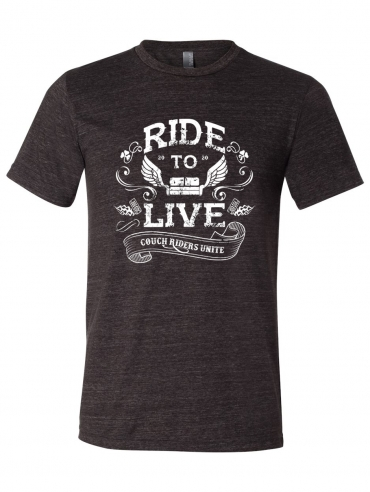 Ride to Live, Couch Riders Unitie Unisex T-Shirt Design.