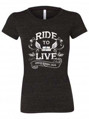 Ride to Live T-Shirt Design - Ladies