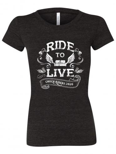 Ride to Live T-Shirt Design - Ladies