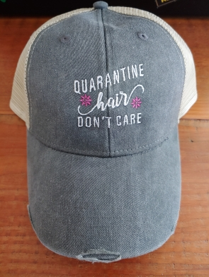Quarantine Hair Don't Care Charcoal Cap