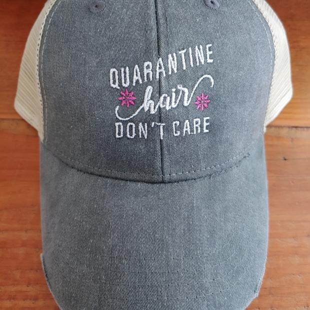 Quarantine Hair Don't Care Charcoal Cap