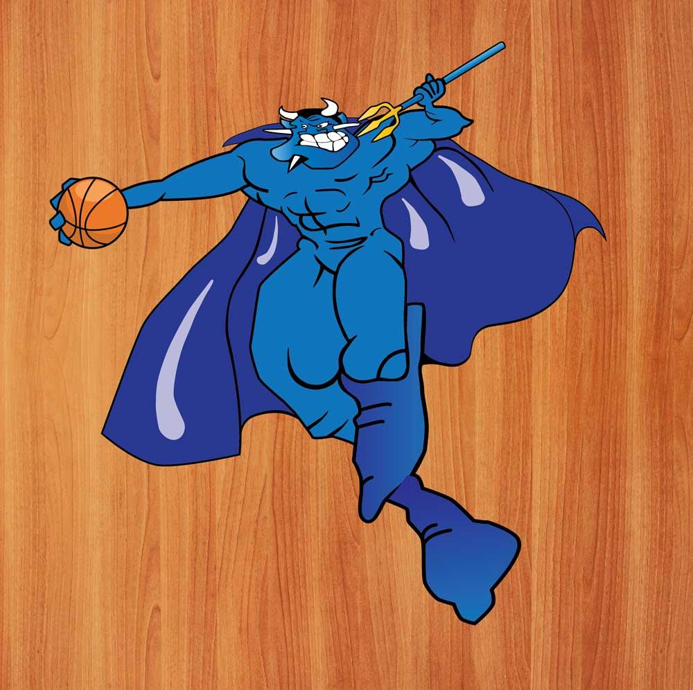 Blue Devil Floor Logo Graphic for Classic Sport Floors, Berlin, NJ